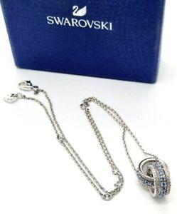 Swarovski 2-Tone 48cm Crystals Further Pendant Rhodium Plated Necklace