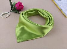 Satin Solid Silk Scarf Hijab Plain Shiny Soft Large Square Head Neck Wrap 60x60