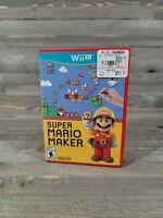 Super Mario Maker (Nintendo Wii U, 2015) Complete Free Shipping