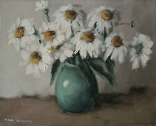 TOM ROBERTS RCA OSA - White Daisies - Oil on Canvas - Canada - Mid 20th Century