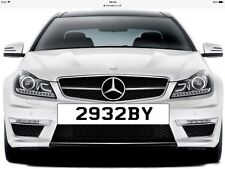Private Number Plate ** 2932 BY ** Personalised Number Dateless
