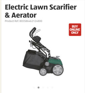 electric lawn scarifier aerator, Used Once So Nearly New, Height Adjustable