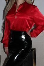 HONOUR black shiny PVC  Dominatrix fitted pencil  skirt size 8