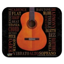 Music Terminology Guitar Low Profile Thin Mouse Pad Mousepad