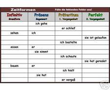 Zeitformen-Verben 3./4. Klasse Grundschule  Montessori Lernmaterial lernen