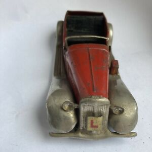 Vintage Triang Minic Toys Clockwork Tinplate Car