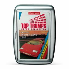 Exotic Sports Cars Retro Top Trumps Card Game