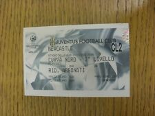 01/10/2002 Ticket: Juventus v Newcastle United [Champions League]. Trusted selle