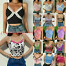 Lace V Vest Tank T-shirt Neck Cami Sleeveless ladies tops Crop Blouse Summer
