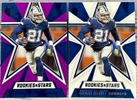 Ezekiel Elliott 2020 Panini Rookies And Stars Base + Purple Parallel