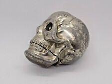 More details for rare & unusual old skull vesta case. great display piece. memento mori.