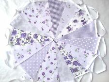 80ft/24m  LILAC FLORAL BUNTING. WEDDINGS vintage shabby chic handmade.Lilac 80