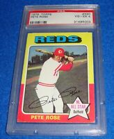 1975 Topps Pete Rose Card #320 PSA 4 Cincinnati Reds