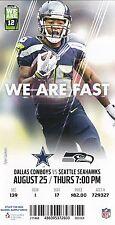 2016 Dallas Cowboys v Seattle Seahawks Ticket 8/25 Tyler Lockett 32439
