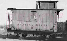 Raritan Railroad Caboose 2 at South Amboy, NJ in 1933 - 8x10 Photo
