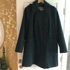 M&S Dark Green Winter Coat Size 20 Deep Pockets