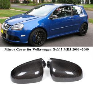 Carbon Außenspiegelkappen Gehäuse Seitenspiegel für VW Golf 5 V MK5 GTI 2003-08