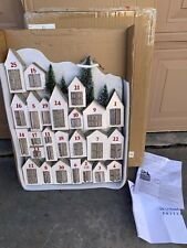 Pottery Barn GLITTER LIT House ADVENT CALENDAR Christmas Holiday Village NEW