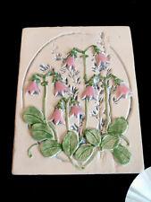More details for linnea smaland jie gantofta sweden 707 10 small floral wall art plaque 1988