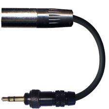 THREADED 3.5mm SCREW IN JACK PLUG TO MALE 3 PIN MINI XLR TA3F MICROPHONE ADAPTER