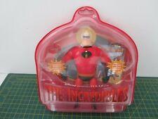 VERY RARE Disney Pixar The Incredibles Mr INCREDIBLE Action Figure + Ring + Card