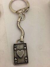 Ace of hearts tarjeta R150 inglés estaño emblema en una serpiente KEYRING
