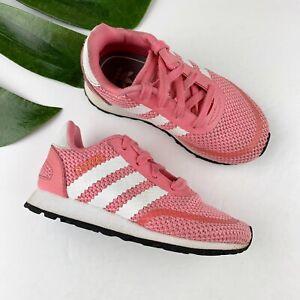 Adidas Coral Pink White Mesh Sneakers Toddler Girls Size 7