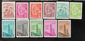 Bolivia,Scott#C176-C186,MNH,Scott=$18