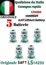 5x SAFT LS 14250 Batteria Pila 3,6V Li-SoCl2 MEZZASTILO 1/2 AA 1200mAh Pc Memory