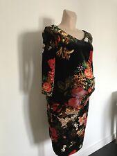 NEW Julia Designer Floral Velvet Maternity Dress size 10- 12 RRP £35 Christmas
