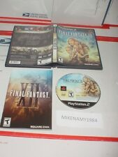 FINAL FANTASY XII game in case w/ manual (BLACK LABEL) for Playstation 2 PS2