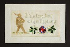 Great War 1914 WW1 Embroidered Silk Postcard Tommy Atkins Soldier Rifle Bayonet