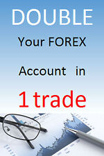 Double your Forex account in 1 trade using the MT4 Forex Expert Advisor software