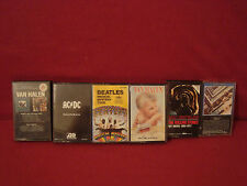 THE BEATLES AC/DC THE ROLLING STONES VAN HALEN LOT OF SIX CASSETTES