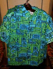 Disney Polynesian Trader Sams Grog Grotto Tiki Room Hawaiian Shirt 2XL XXL