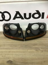 Audi TT MK1 98-06 8N Left + Right N/S O/S Headlight Lamp Black Incert Surrounds