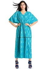 Womens Kaftan Beach Wear Boho Indian Cotton Loose Summer Wear Free Size Dress