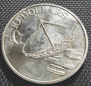 1980 Singapore 10 Dollars  commemorative coin dia 38mm (+ FREE 1 coin) #D6713