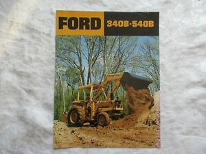 Ford 340B to 540B tractors loaders & backhoes brochure