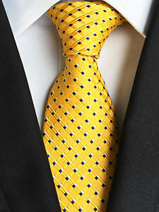 (NT229) MenWithTie Yellow Men Necktie Office Business Party Wedding Formal Tie