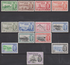 Turks & Caicos Islands 1950 Mint Mounted Set Cat £85