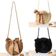 49b241642f New Women Straw Bag Retro Handbag Rattan Woven Summer Beach Shoulder Bags  Tote