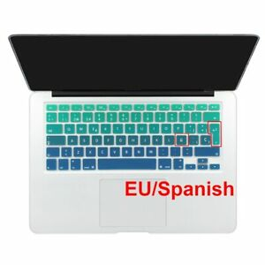 Spanish English Russian water proof keyboard cover for macbook air 13 protector