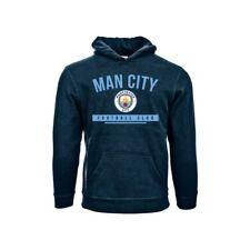 Manchester City Azul Juventud Premium Sudadera Con Capucha Equipo Crest Small-XL con licencia oficial
