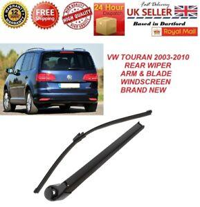 """VW TOURAN 2003-2010 REAR WIPER WINDOW ARM & BLADE 16"""" (410mm) WINDSCREEN  NEW"""