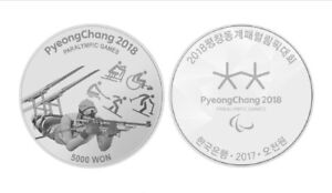 Korea PyeongChang 2018 Paralympic Winter Commemorative Silver Proof