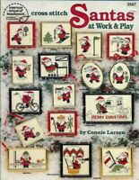 Santas at Work & Play in Counted Cross Stitch ASN 3587 Christmas Holiday Themed