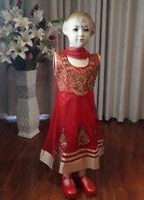 """24"""" Age 3 4 Size Kids Bollywood Kids Salwar Kameez Indian Girls Dress Red K18"""