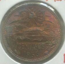 1956 Mexico 20 Centavos - Toned
