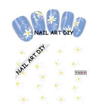 20Adesivi Per Unghie- Stickers Decal Water Transfer-Fiori Bianchi-BUY 3 Get 4!